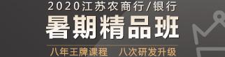 2020年银行/江苏农商行暑期精品班